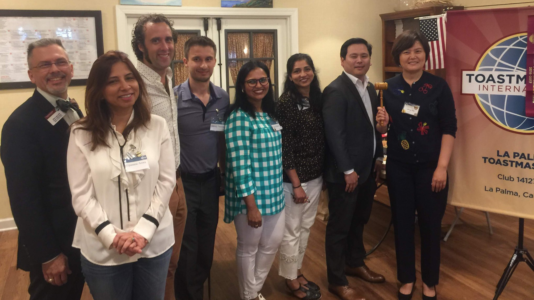 La Palma Toastmasters Officers for 2018-2019
